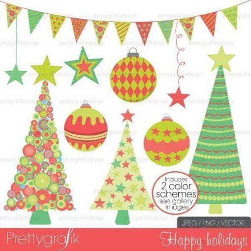 Holiday christmas clipart commercial use - PGCLPK399