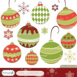 christmas ornaments clipart
