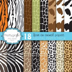 Animal print papers
