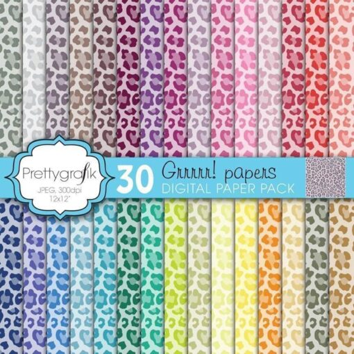 Leopard animal print papers