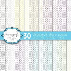 Quatrefoil clover papers