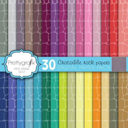 Crocodile animal print papers