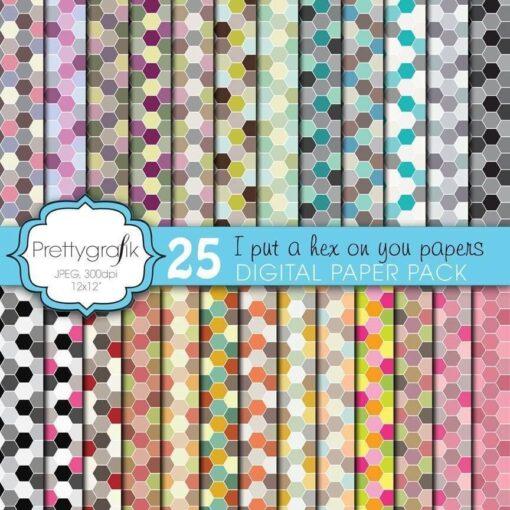 Honeycomb hexagonal papers