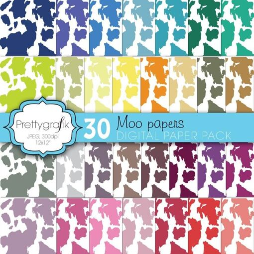 Cow print animal papers