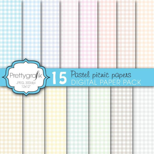 Gingham picnic papers
