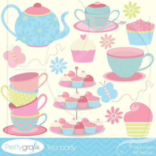 Tea party clipart