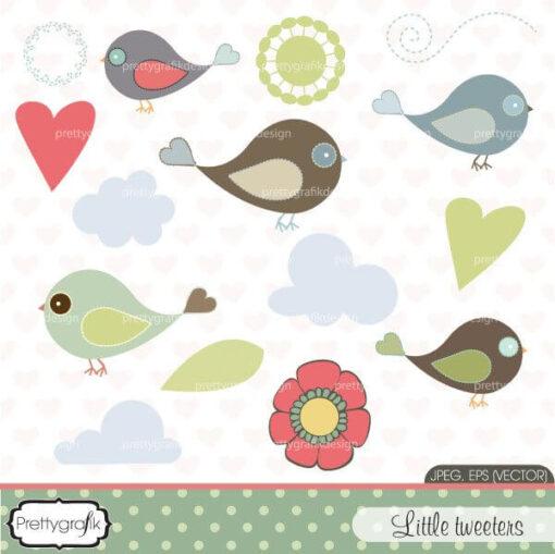 Bird tweet clipart