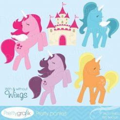 Pony unicorn clipart