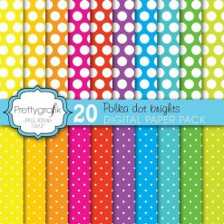 Polka dot brights papers