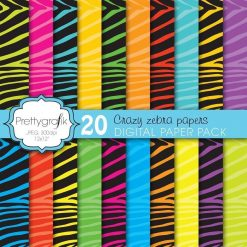 Zebra print papers