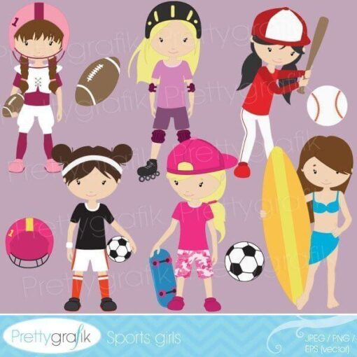 Girl sports clipart