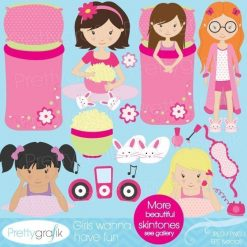 Sleepover slumber party clipart