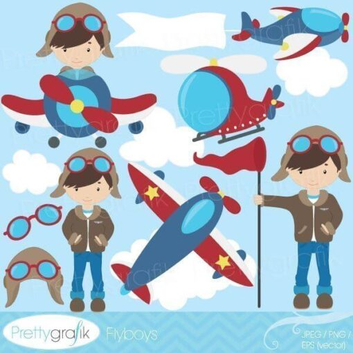 Airplane pilot clipart