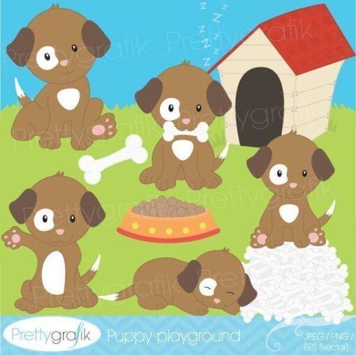 Puppy playground clipart