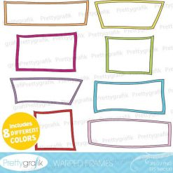 Warped frames clipart