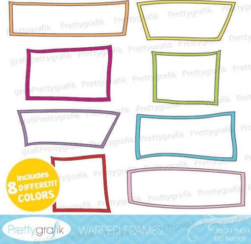 Warped frames clipart