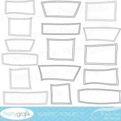 Warped frames 2 clipart