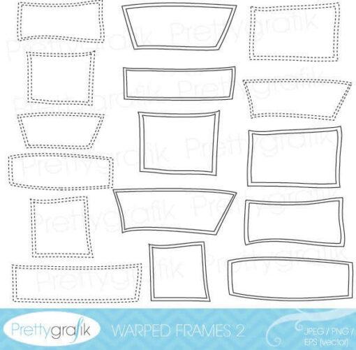 Warped frames 2 clipart