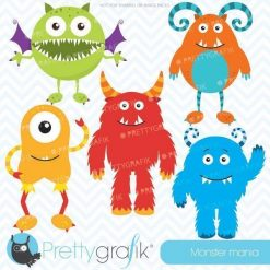 Monster mania clipart
