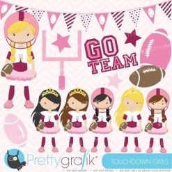 Football and tutus clipart