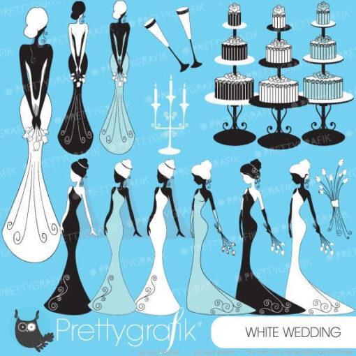 Bride wedding clipart