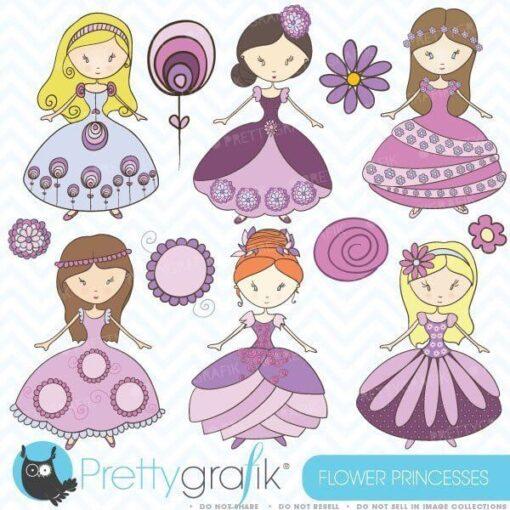 Flower princess clipart