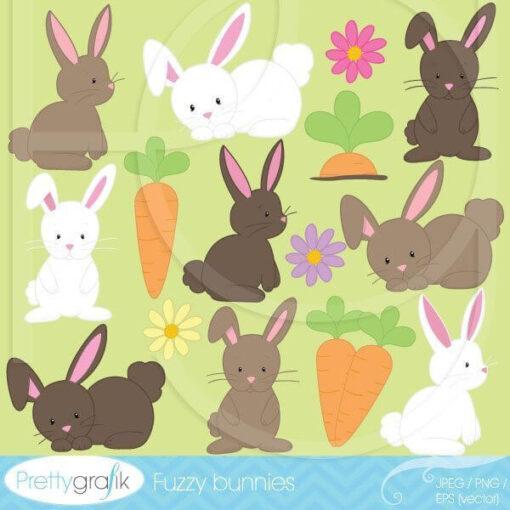 Fuzzy bunny clipart