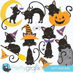 Halloween cats clipart