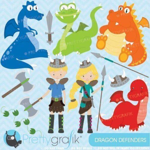 Dragon viking clipart