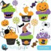 Halloween cupcakes clipart