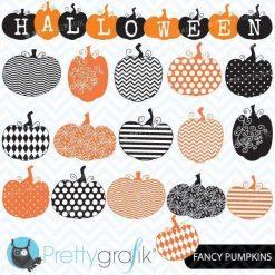 Halloween pumpkins clipart