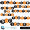 Halloween pumpkin word clipart