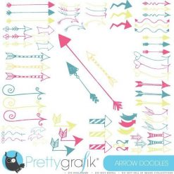 Arrow doodles clipart