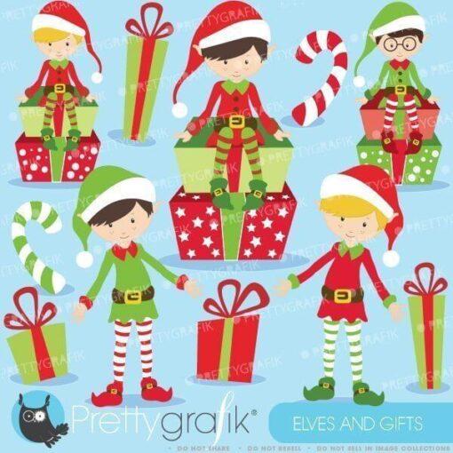 Christmas Elves Clipart