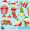 Christmas babies clipart