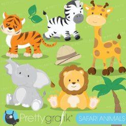 Safari animals clipart