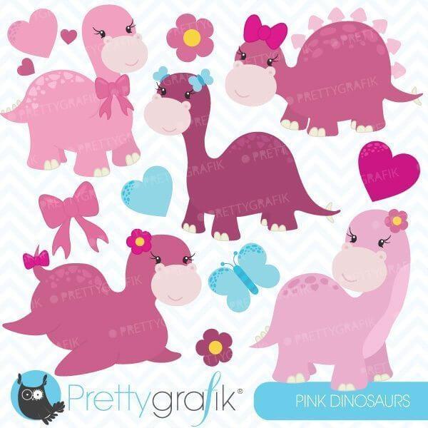 Dinosaur girls clipart