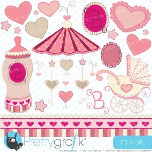 baby girl clipart
