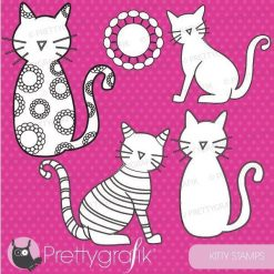 Kitty digital stamps