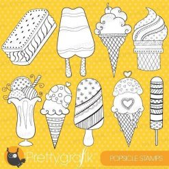 Ice cream popsicle stamps