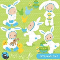 Easter baby boy clipart