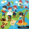 Boy pirate clipart