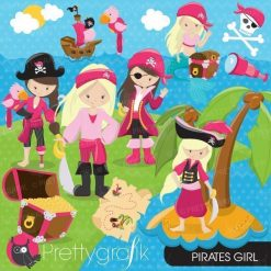 Girl pirate clipart