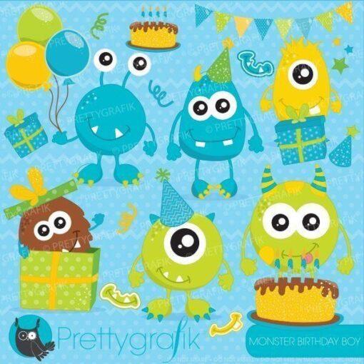 Birthday monster clipart