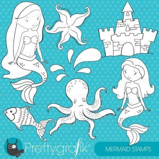 Mermaid stamps