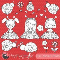 Little ladybug stamps