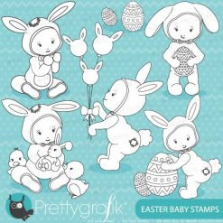 Easter baby stamps
