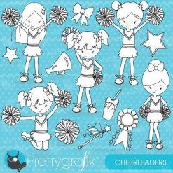Cheerleader stamps