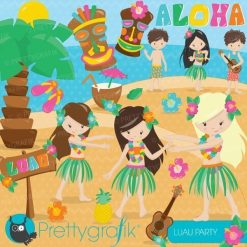 Luau party clipart