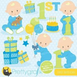 First birthday boy clipart